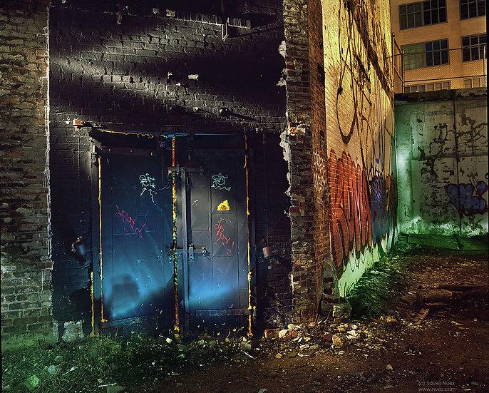 Alleys & Ruins no. 137, Portal (2011, Queens, NY, 11pm)