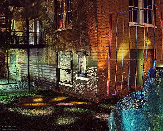Alleys & Ruins no. 144, Light Circus (2013, Houston, TX, 11pm)