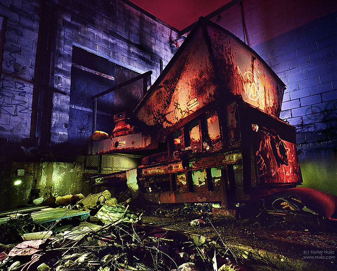 Alleys & Ruins no. 110, Compactor (2008, Indianapolis, IN, 2am)