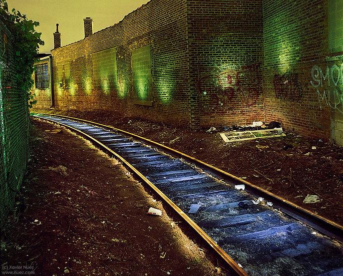 Alleys & Ruins no. 139, Tracks (2011, Chicago, IL, 10:00pm)