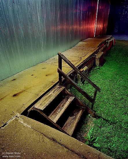 Alleys & Ruins no. 96, Steps III (2006, Des Moines, IA, 11:30pm)