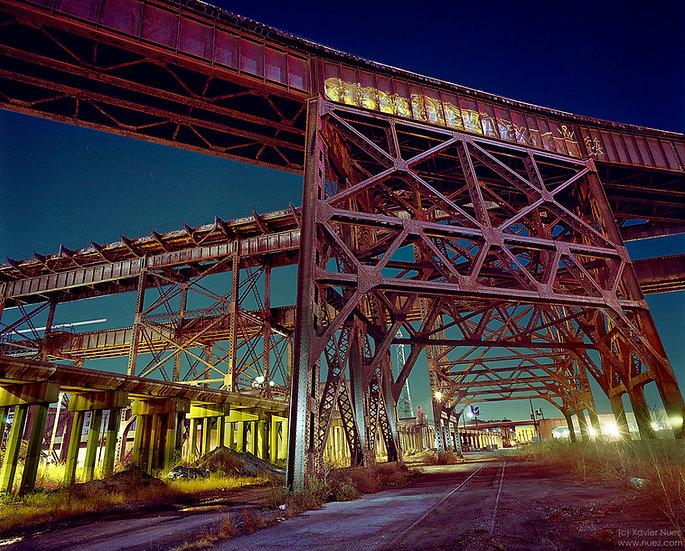 "MacArthur Bridge ""St Louis"" ""light painting"" ""night photography"" ""art photography"" ""long exposure photography"" urban ruins"