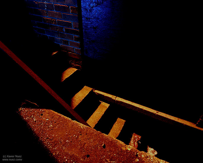 Alleys & Ruins no. 53. Steps (1999, Toronto, ON, 10:30pm)