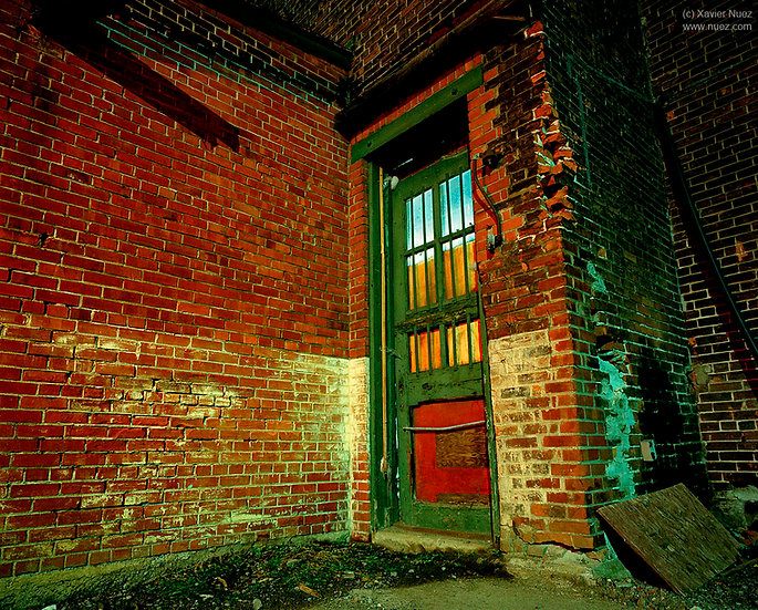 Alleys & Ruins no. 56, Green Door (1999, New York City, NY, 11:30pm)
