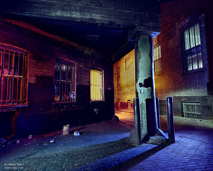 Alleys & Ruins no. 111, Intersect (2008, St. Paul, MN, 11pm)