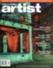 Professional artist magazine cover press clipping