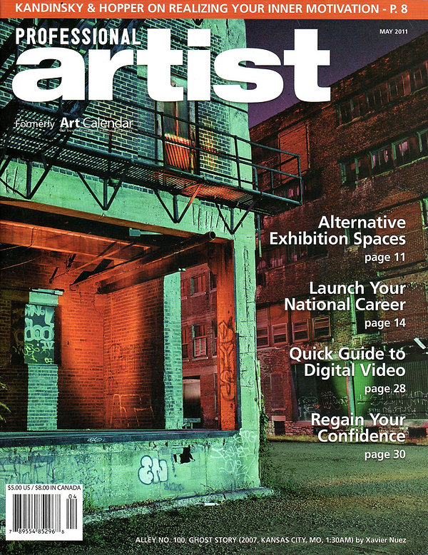 Professional artist magazine cover press clipping