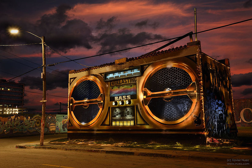 "Miami boombox building ""light painting"" ""night photography"" ""art photography"" ""long exposure"" urban ruins"