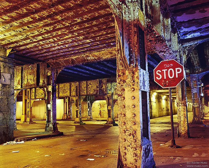 """chicago crumbling infrastructure underpass urban ruins """"light painting"""" """"night photography"""" """"art photography"""" """"long exposure"""""""