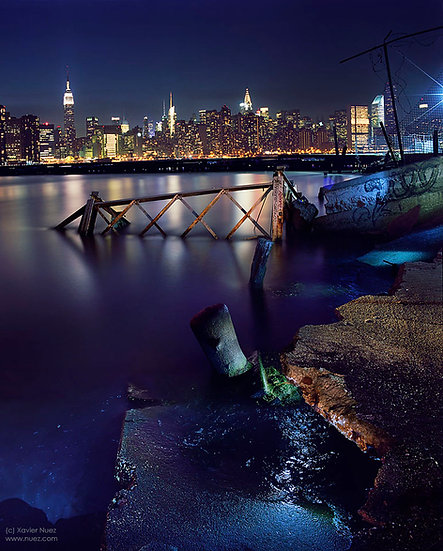 "nyc ""new york city"" skyline brooklyn river urban ruins graffiti ""light painting"" ""night photography"" ""art photography"""