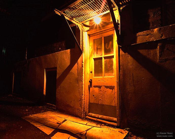 Alleys & Ruins no. 4, Orange Door (1993, Montreal, QC, 9:45pm)