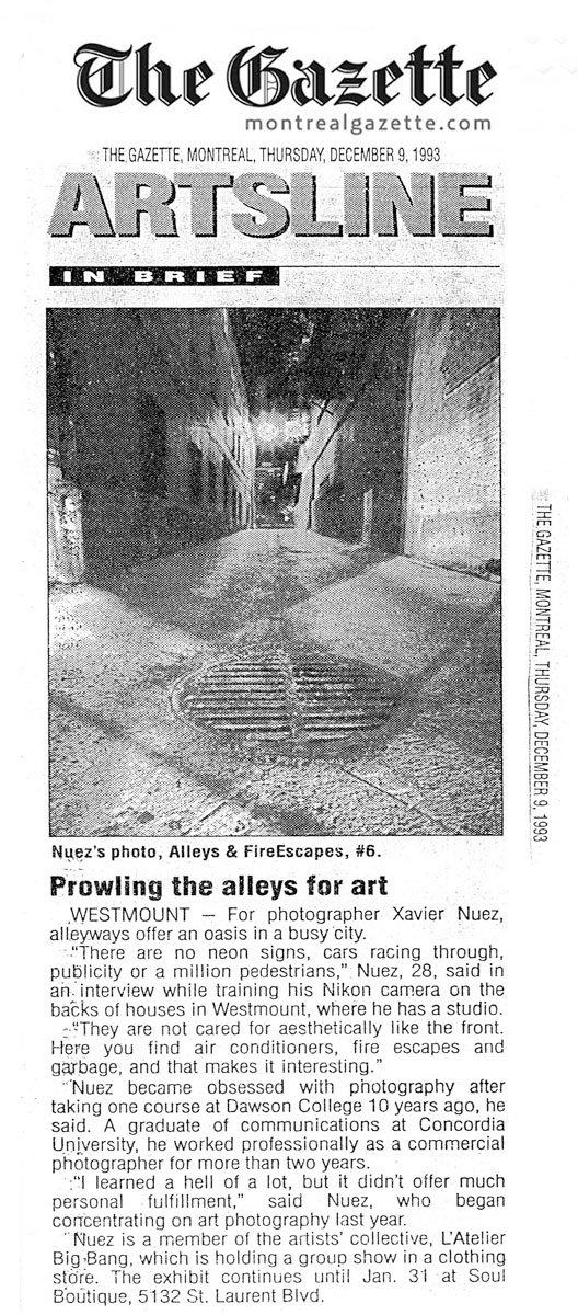 montreal gazette 1993 press clipping