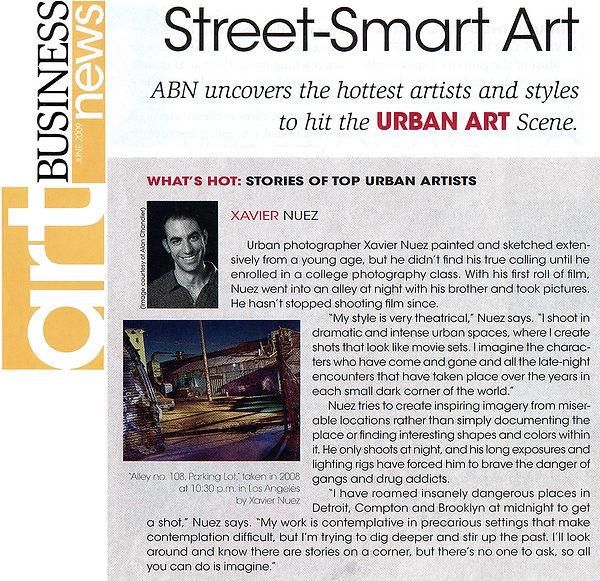 Art business news press clipping