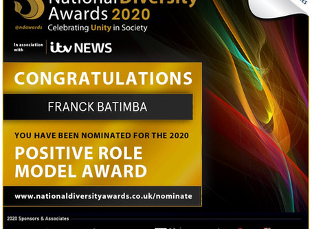 Our Coach Franck Nominated for a National Diversity Award & John Barnes supports Franck to WIN!