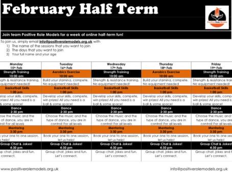 February, Online Half Term Fun!!