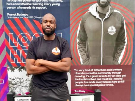 Coach Franck appears on a Billboard in Tottenham Hale!