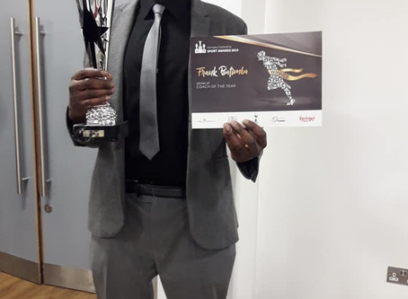 Our Coach Franck Wins 'Coach Of The Year' at the 2019 Haringey Sport Awards!