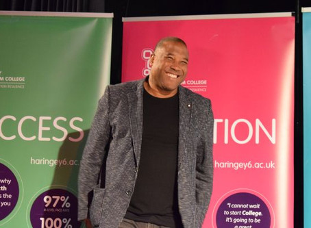 Positive Role Models Brings John Barnes, England & Liverpool FC Legend, to Haringey 6th Form College