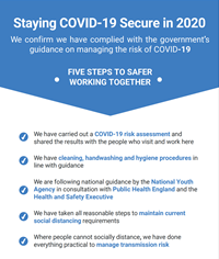 Team PRM, Has Complied With The Government's Guidance On Managing The Risks Of COVID19