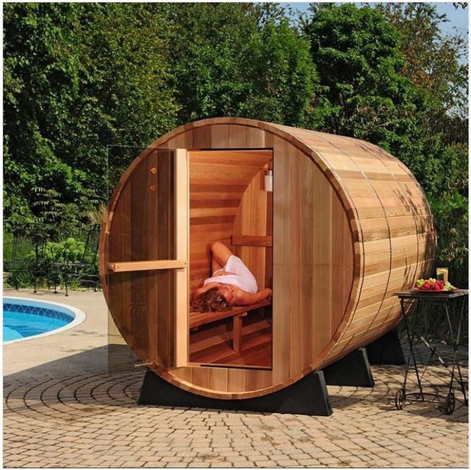 Sudorewell ® Sauna à PUNCH de bois tendre 50 Cm Avec Cuir Boucle//Sauna Kelle