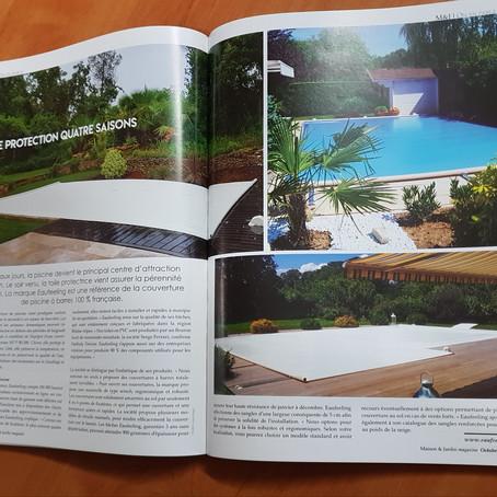 Eaufeeling, revendeur web exclusif des couvertures de piscines CTI, est dans Maison et Jardin!