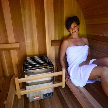 sauna tonneau 4places ou 6 places eaufee
