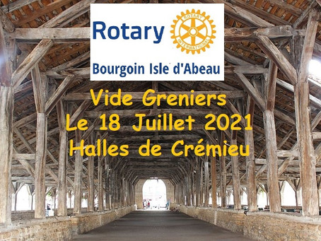 Vide Greniers du ROTARY - Halles de Crémieu