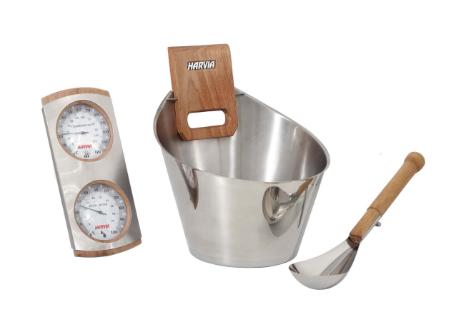 set accessoires sauna harvia eaufeeling.