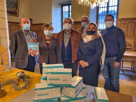 11/12/2020: Le Rotary de Bourgoin Isle d'Abeau s'implique dans la distribution de masques