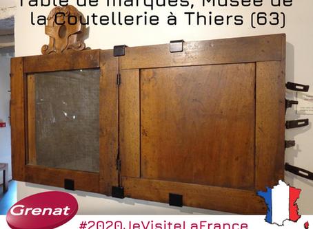 Les tables de marques du Musée de la Coutellerie à Thiers dans le Puy-de-Dôme (63) par Manon MURAT