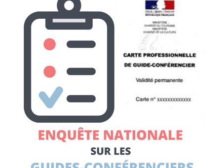 Résultats nationaux et régionaux de l'enquête sur les guides-conférenciers