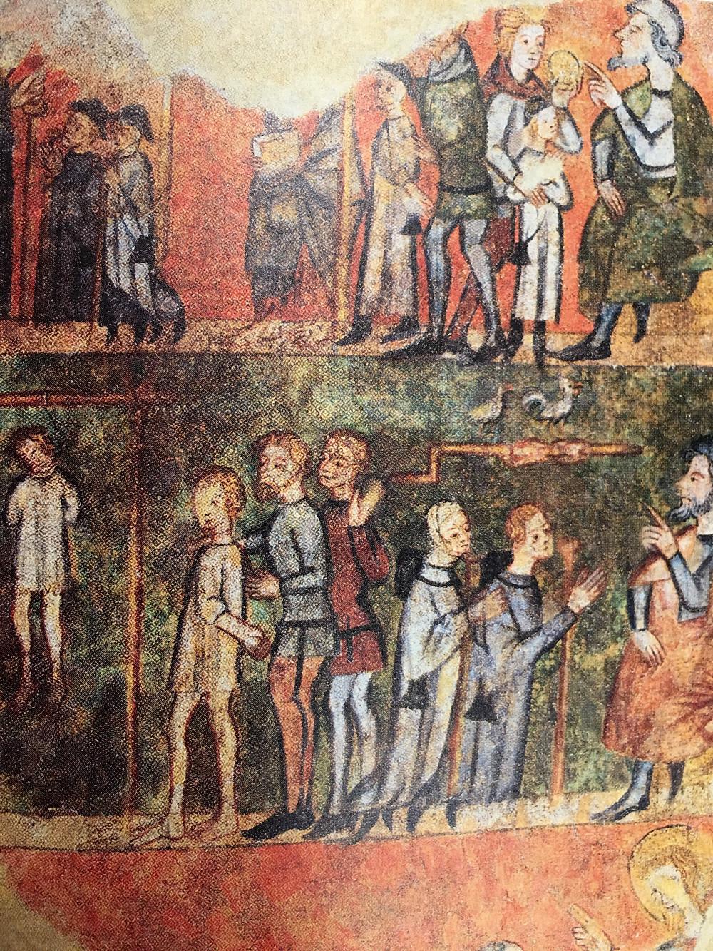 Peinture murale de l'ancien couvent des Jacobins de Saint-Flour