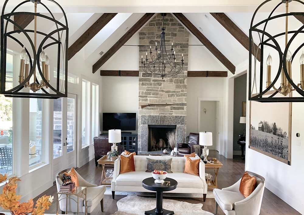 Living Room with Fall Colors