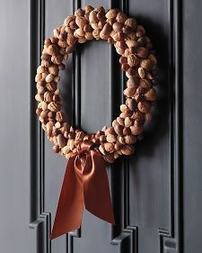 nut wreath, Fall wreath