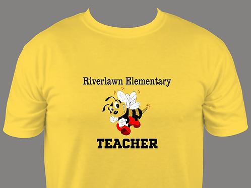 Men's Style Tee - Riverlawn Teacher Design in all Matte Vinyl