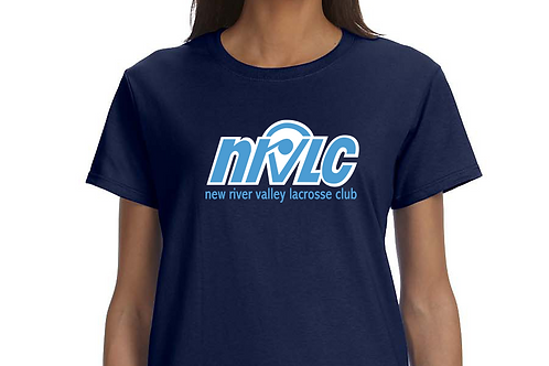NRVLC Adult Ladies Cotton Tee with NRVLC 2 Color Logo