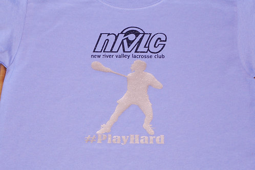 NRVLC Play Hard Tee with Two Color Glitter Design - Womens or Girls