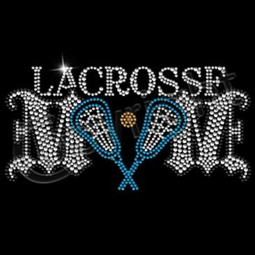 Lacrosse Mom with Blue Sticks