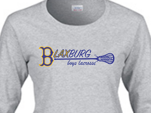 "B""LAX""BURG BOYS Multi-Color Lacrosse Design in Long-Sleeve"