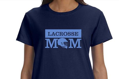 Lacrosse Mom Matte Vinyl Short Sleeve Cotton Tee