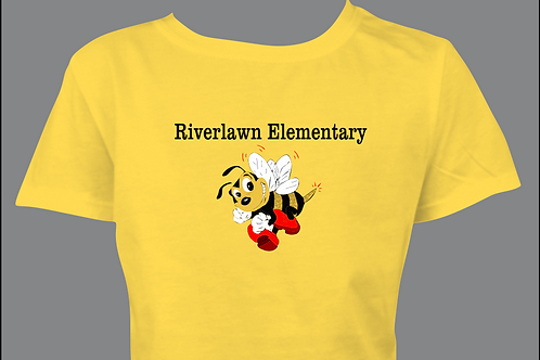 Youth Tee - Riverlawn Elementary Text & Bee in Matte Vinyl