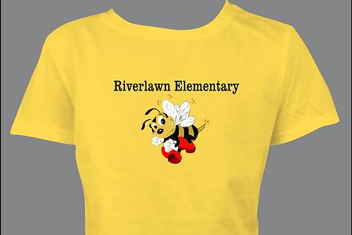 Ladies' Style Tee - Riverlawn Elementary Text & Bee in Matte Vinyl