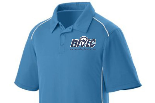 NRVLC Mens' Moisture Wicking Spirit Streak Short Sleeve Polo