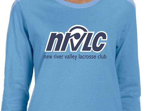 NRVLC Womens' Long-Sleeve Tee in Carolina Blue