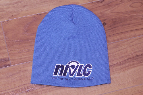 NRVLC Adult Knit Beanie with Embriodered Logo - Navy or Carolina Blue