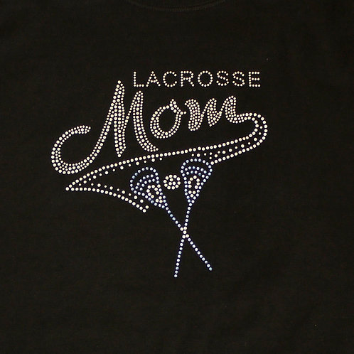NRVLC Rhinestone Lacrosse Mom Tee with Lacrosse Sticks