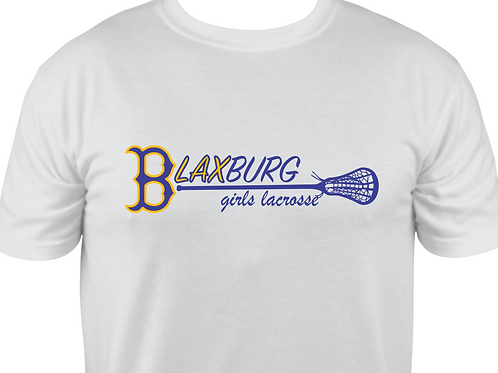 "Short-Sleeve B""LAX""BURG GIRLS Multi-Color Lacrosse Design"