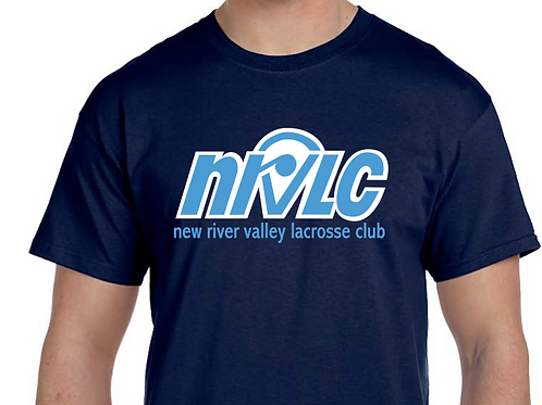 NRVLC Adult Men's Cotton Short-Sleeve Tee with NRVLC 2 Color Logo