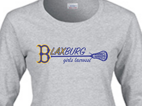 "B""LAX""BURG GIRLS Multi-Color Lacrosse Design in Long-Sleeve"