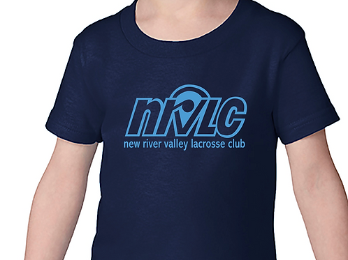 NRVLC Toddler Cotton Short Sleeve Tee with NRVLC Logo - Sizes 2T - 6T